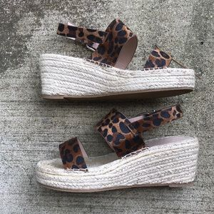 ASOS espadrille leopard wedges SOLD!!